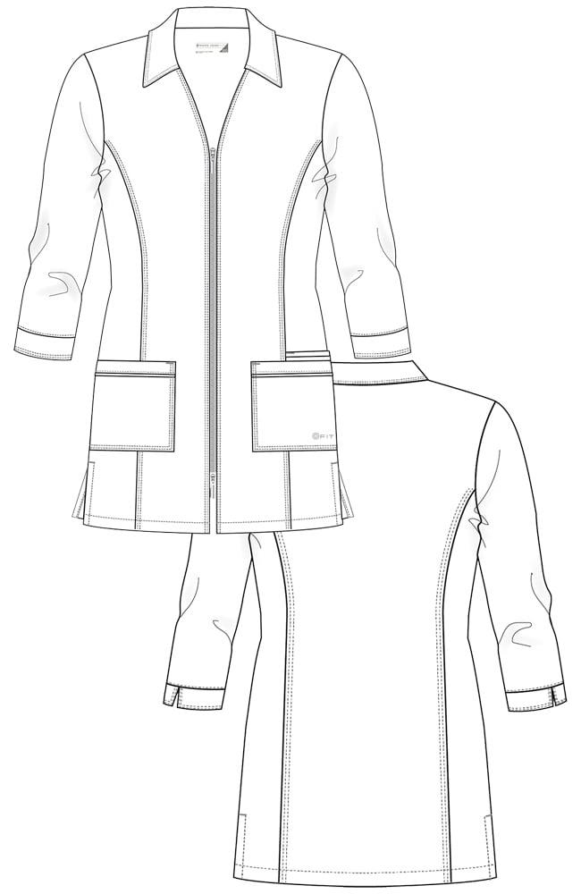 2417 Zip Front 32″ Lab Coat | Uniforms & More